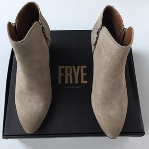 Frye Shoes Black Veronica Back Zip Short Booties Poshmark